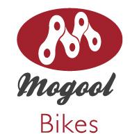 Das Logo des Berliner Unternehmens Mogool-Bikes, wo man ein Lastenfahrrad oder Cargobike kaufen kann.